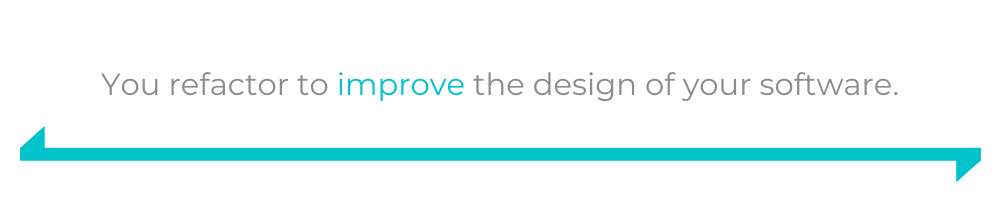 You refactor to improve the design of your software