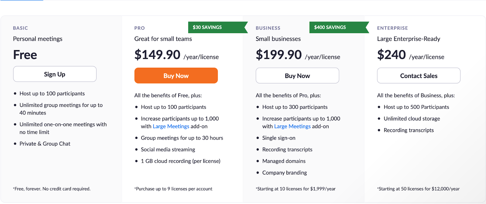 Zoom screen sharing pricing